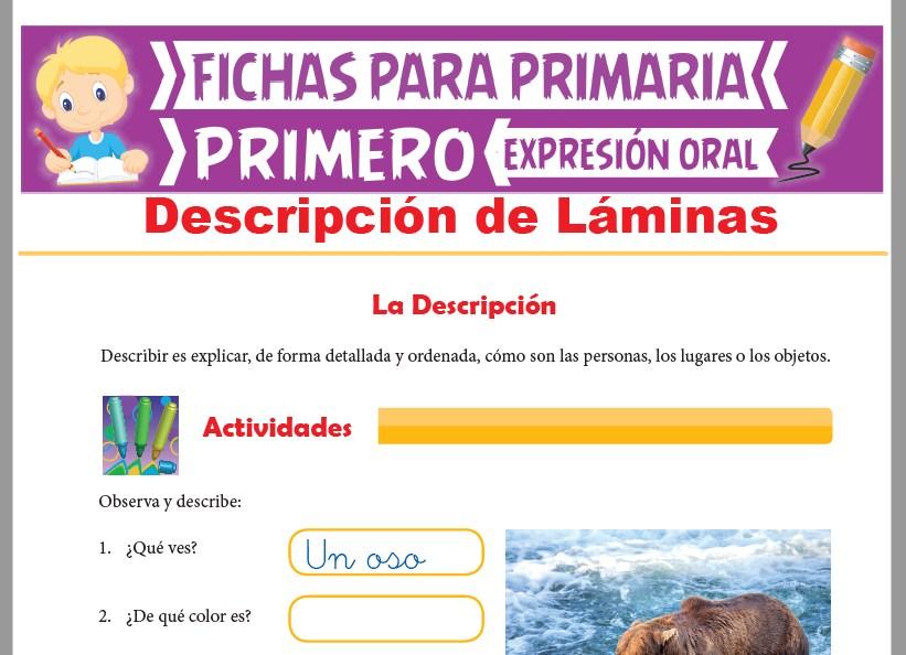 Ficha de Descripción de Láminas para Primer Grado de Primaria