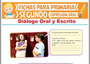 Ficha de Diálogo Oral y Escrito para Segundo Grado de Primaria