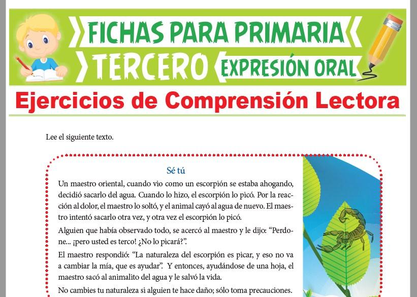Ficha de Ejercicios de Comprensión Lectora para Tercer Grado de Primaria