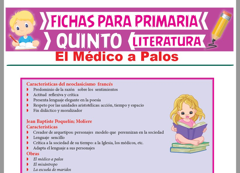 Ficha de El Médico a Palos para Quinto Grado de Primaria
