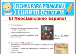 Ficha de El Neoclasicismo Español para Cuarto Grado de Primaria