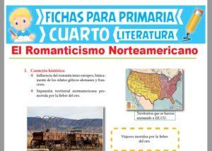 Ficha de El Romanticismo Norteamericano para Cuarto Grado de Primaria