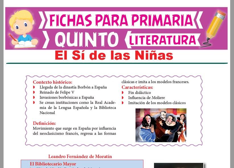 Ficha de El Sí de las Niñas para Quinto Grado de Primaria