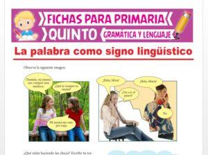Ficha de Elementos de la Comunicación para Quinto Grado de Primaria