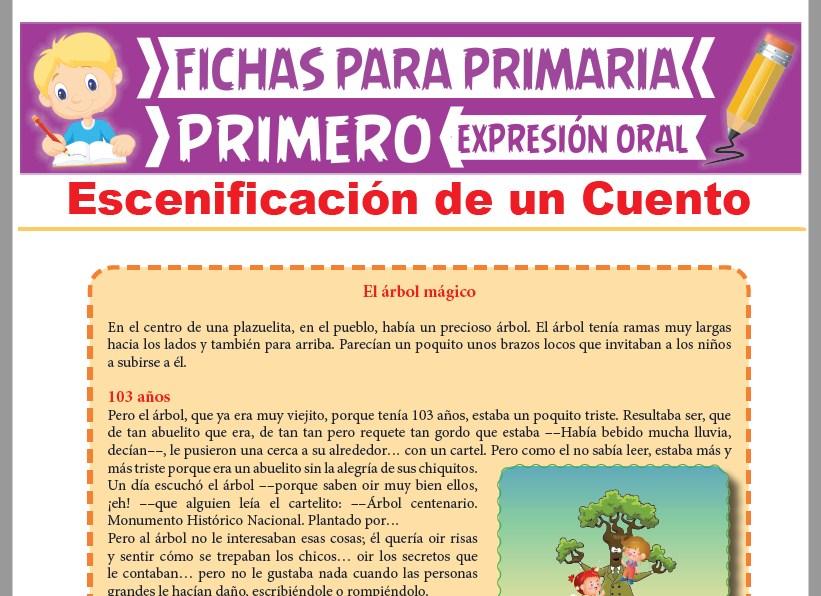 Ficha de Escenificación de un Cuento para Primer Grado de Primaria