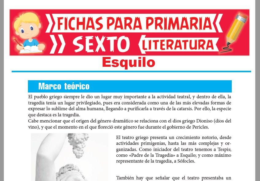 Ficha de Esquilo para Sexto Grado de Primaria
