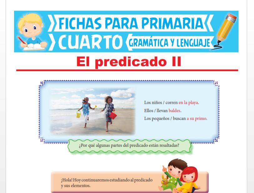 Ficha de Estructura del Predicado para Cuarto Grado de Primaria