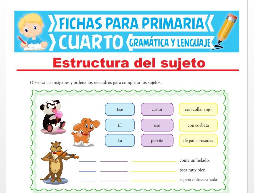 Ficha de Estructura del Sujeto para Cuarto Grado de Primaria