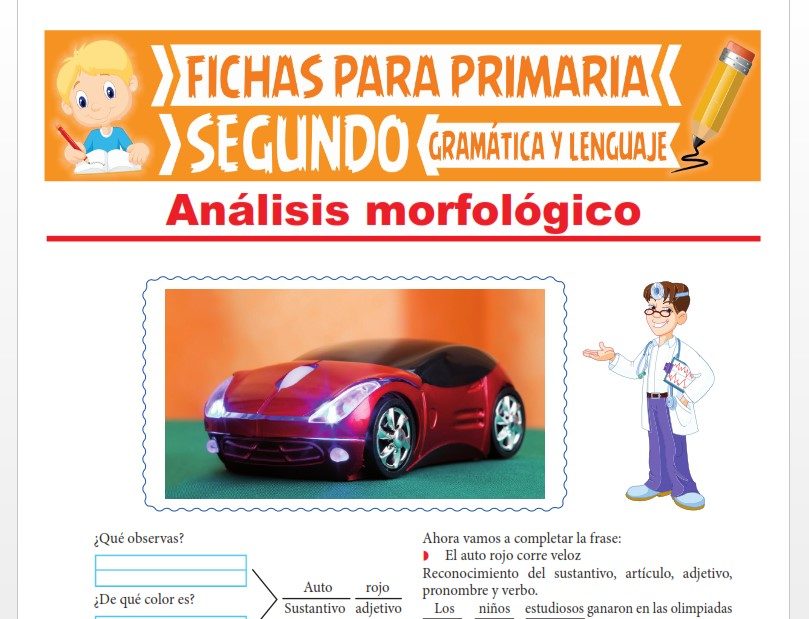 Ficha de Ficha de Análisis Morfológico para Segundo Grado de Primaria