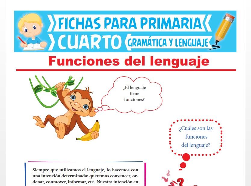 Ficha de Funciones del Lenguaje para Cuarto Grado de Primaria