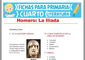 Ficha de Homero para Cuarto Grado de Primaria