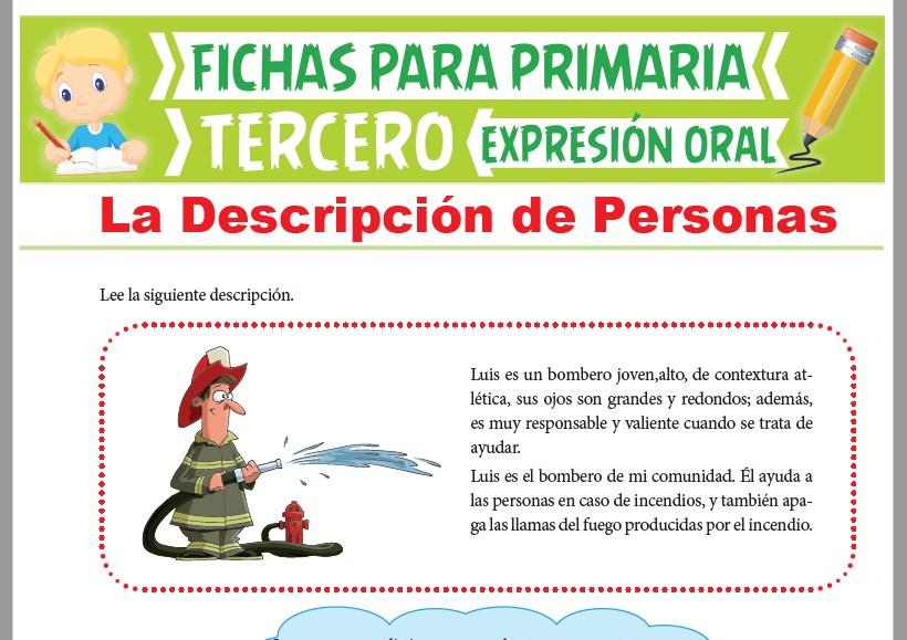 Ficha de La Descripción de Personas para Tercer Grado de Primaria
