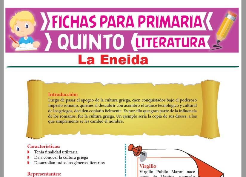 Ficha de La Eneida para Quinto Grado de Primaria