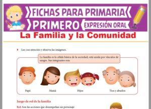 Ficha de La Familia y la Comunidad para Primer Grado de Primaria