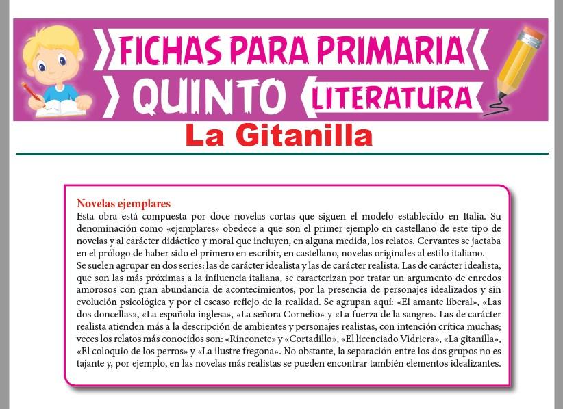 Ficha de La Gitanilla para Quinto Grado de Primaria