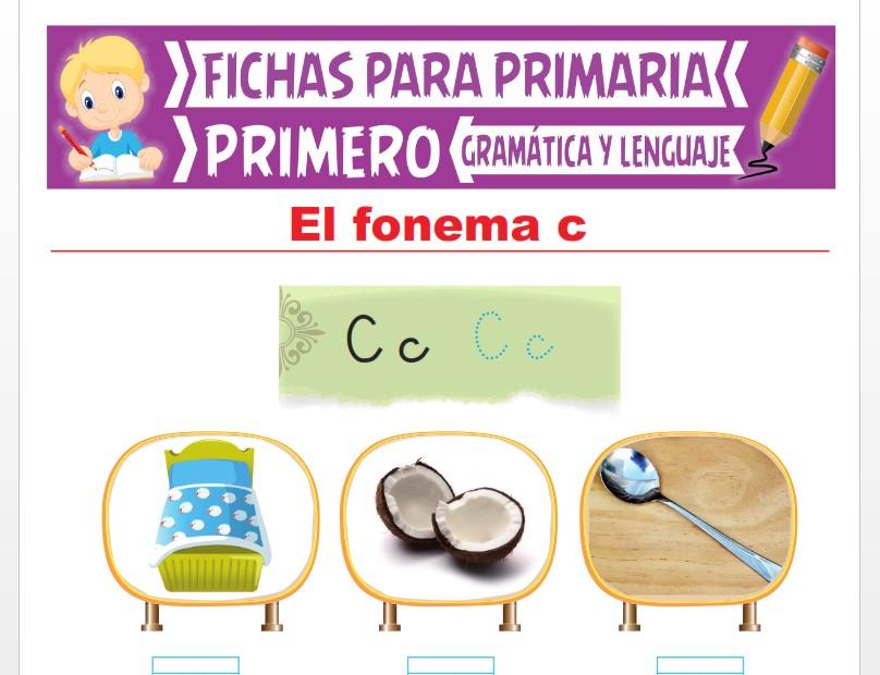 Ficha de La Letra C para Primer Grado de Primaria