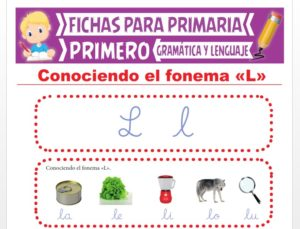 Ficha de La Letra L para Primer Grado de Primaria