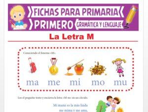 Ficha de La Letra M para Primer Grado de Primaria