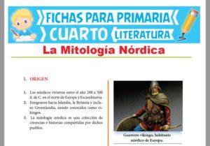 Ficha de La Mitología Nórdica para Cuarto Grado de Primaria