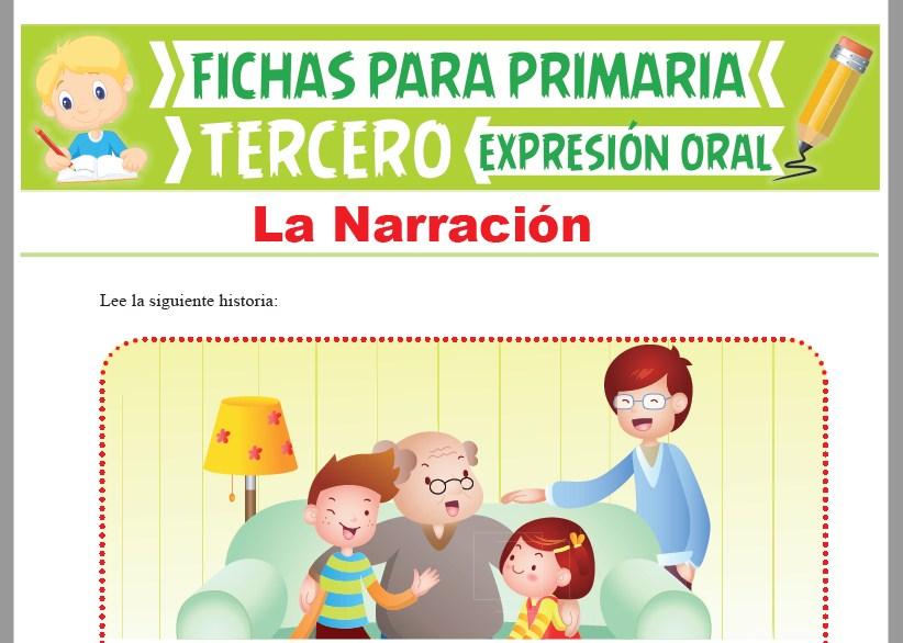 Ficha de La Narración para Tercer Grado de Primaria