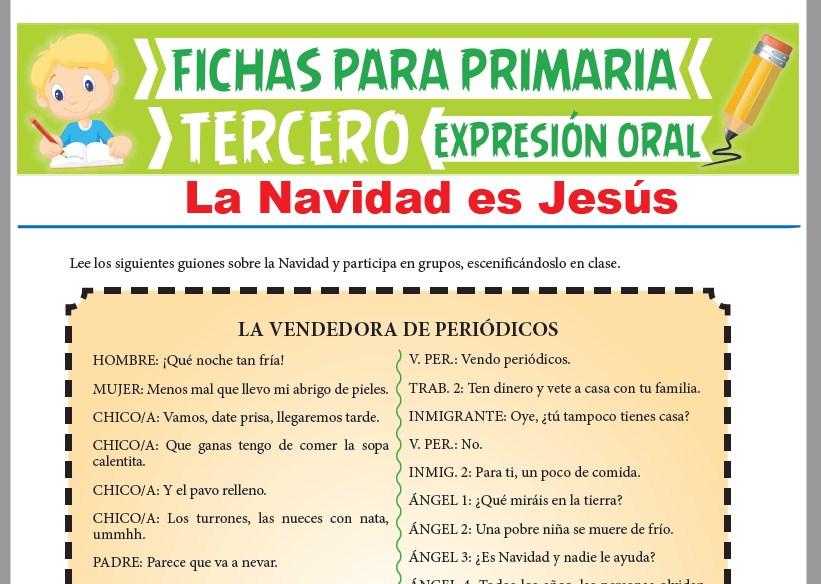 Ficha de La Navidad es Jesús para Tercer Grado de Primaria