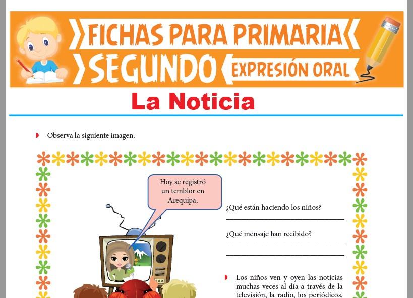 Ficha de La Noticia para Segundo Grado de Primaria