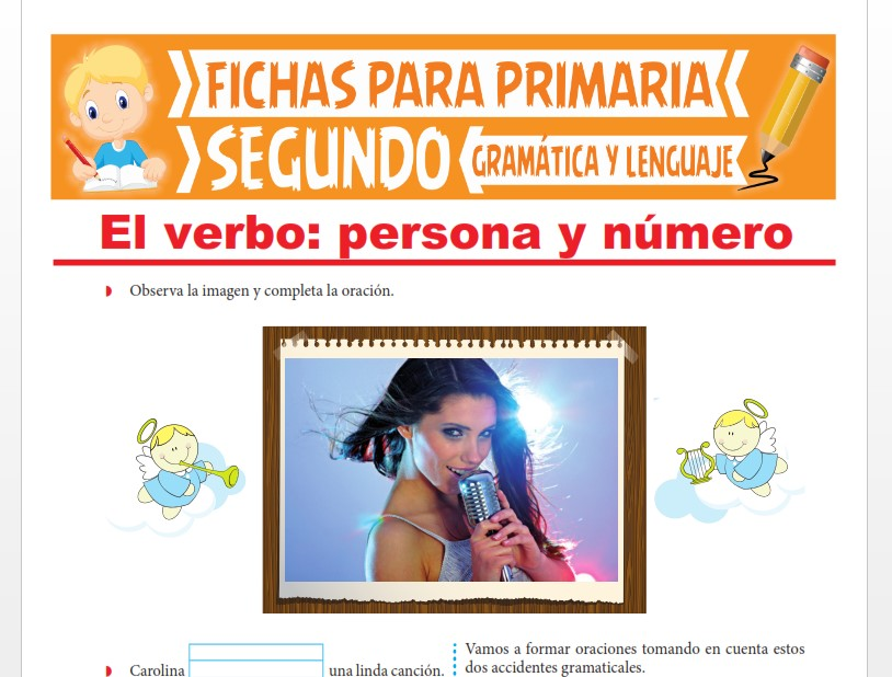Ficha de La Persona y Número del Verbo para Segundo Grado de Primaria