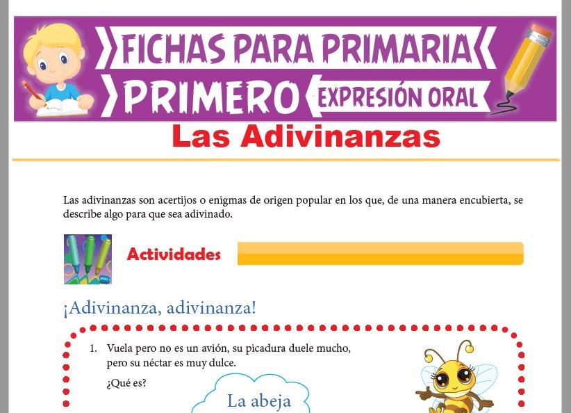 Ficha de Las Adivinanzas para Primer Grado de Primaria