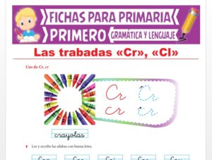 Ficha de Las Trabadas CR y CL para Primer Grado de Primaria