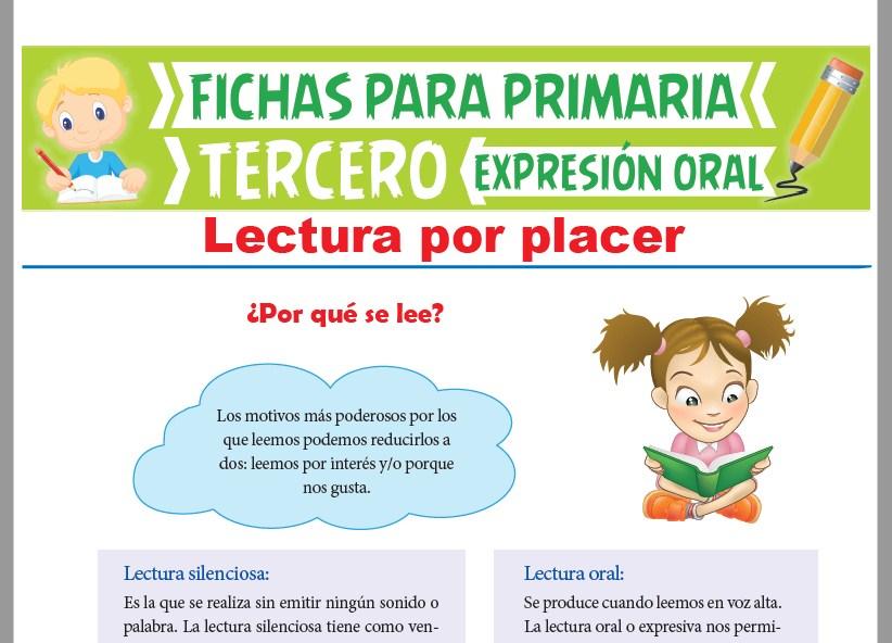 Ficha de Lectura Silenciosa y Oral para Tercer Grado de Primaria