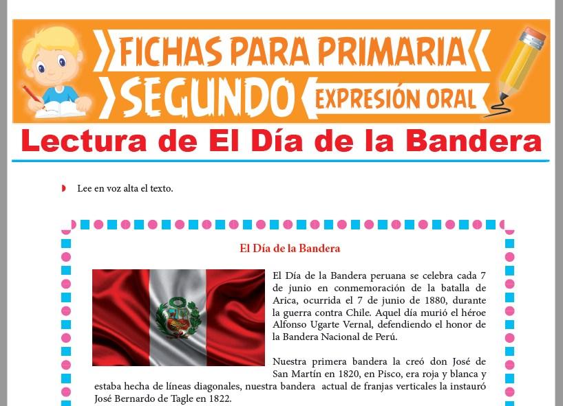 Ficha de Lectura de El Día de la Bandera para Segundo Grado de Primaria