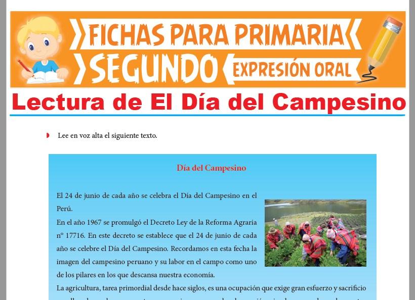 Ficha de Lectura de El Día del Campesino para Segundo Grado de Primaria