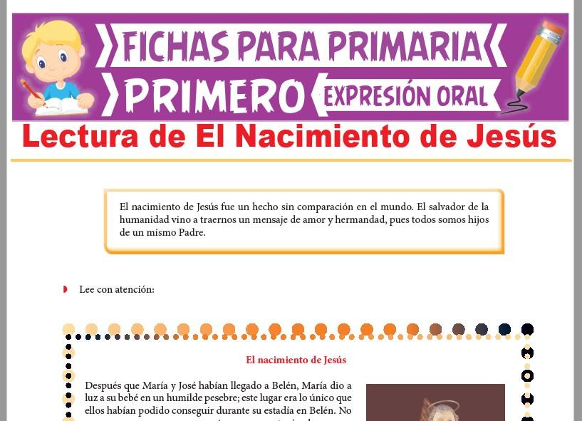 Ficha de Lectura de El Nacimiento de Jesús para Primer Grado de Primaria
