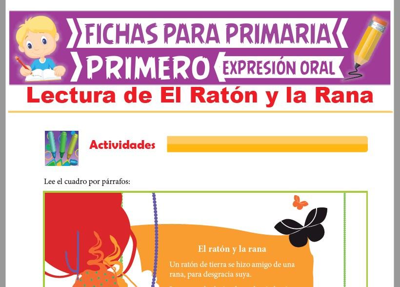 Ficha de Lectura de El Ratón y la Rana para Primer Grado de Primaria