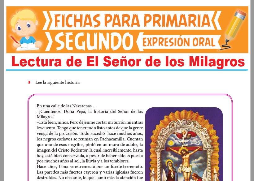 Ficha de Lectura de El Señor de los Milagros para Segundo Grado de Primaria