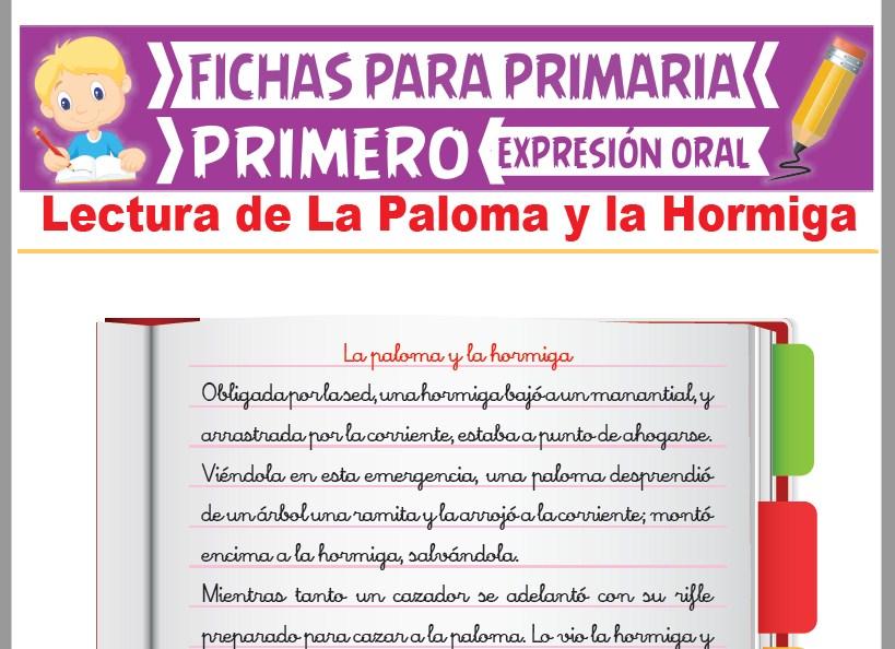 Ficha de Lectura de La Paloma y la Hormiga para Primer Grado de Primaria