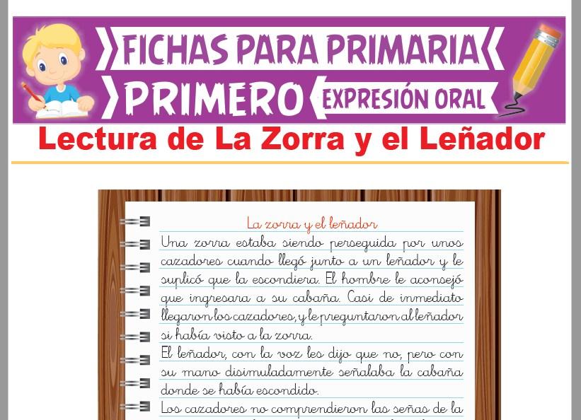 Ficha de Lectura de La Zorra y el Leñador para Primer Grado de Primaria