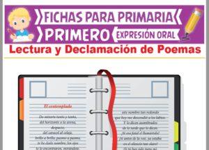 Ficha de Lectura y Declamación de Poemas para Primer Grado de Primaria