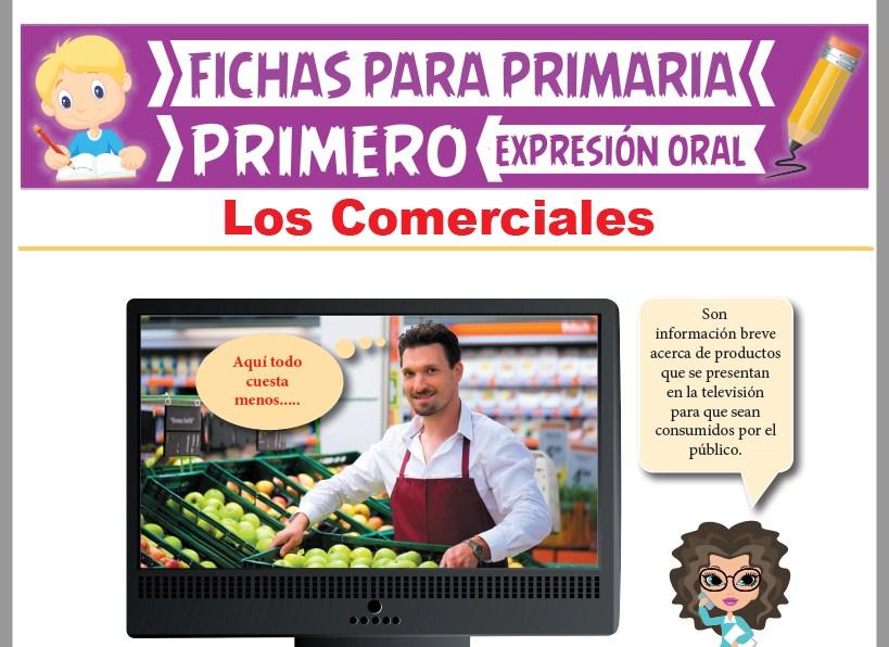 Ficha de Los Comerciales para Primer Grado de Primaria