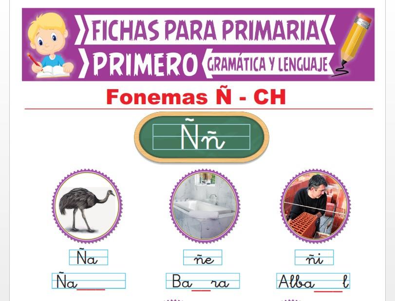 Ficha de Los Fonemas Ñ y CH para Primer Grado de Primaria