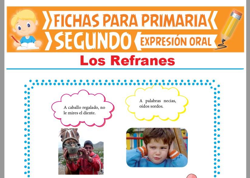 Ficha de Los Refranes para Segundo Grado de Primaria