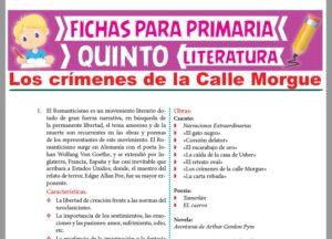 Ficha de Los crímenes de la Calle Morgue para Quinto Grado de Primaria