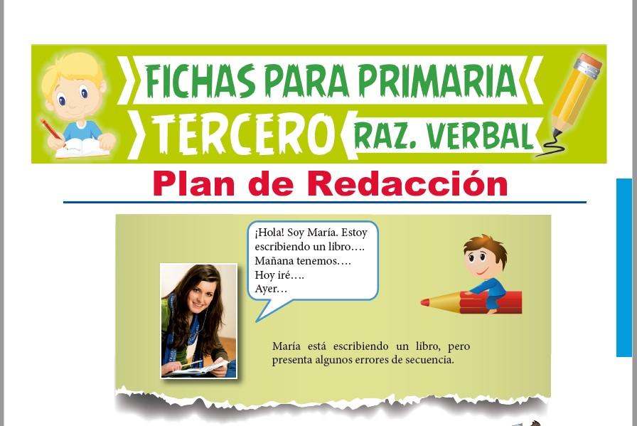 Ficha de Plan de Redacción para Tercer Grado de Primaria