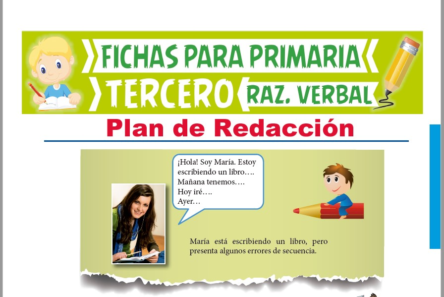 Plan De Redacción Para Tercer Grado De Primaria Actividades 2021