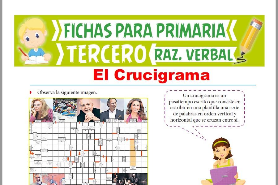 Ficha de Practica de Crucigramas para Tercer Grado de Primaria