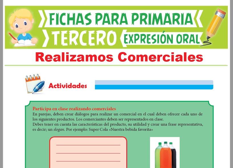 Ficha de Realizamos Comerciales para Tercer Grado de Primaria
