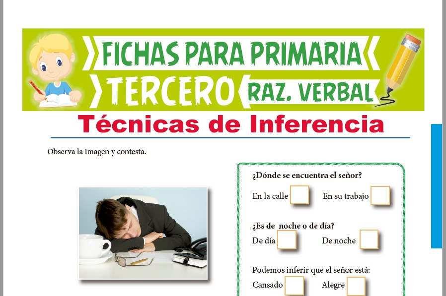 Ficha de Técnicas de Inferencia para Tercer Grado de Primaria