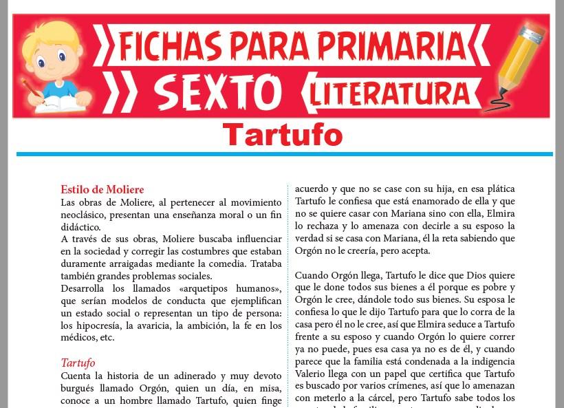 Ficha de Tartufo para Sexto Grado de Primaria