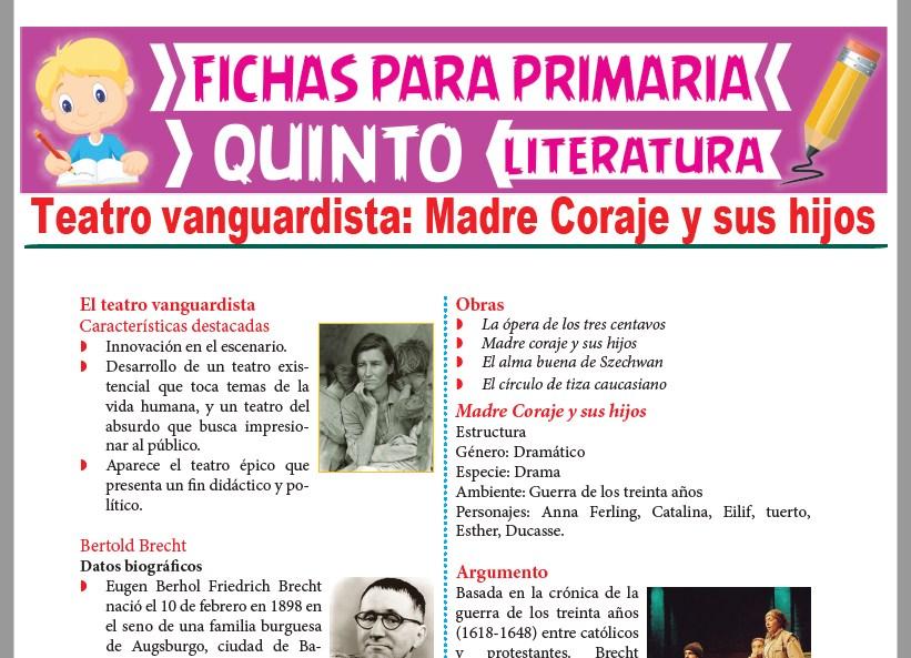 Ficha de Teatro Vanguardista para Quinto Grado de Primaria