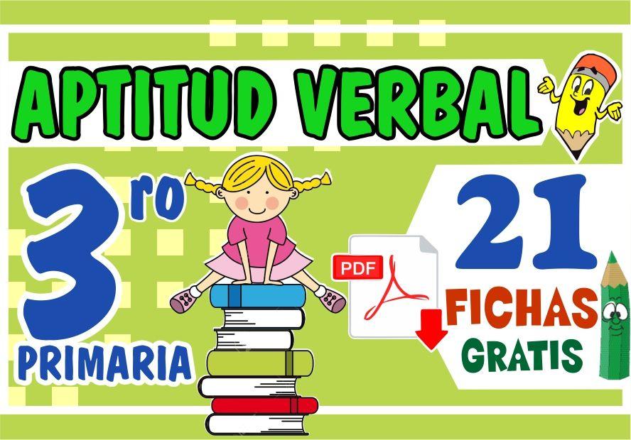Ejercicios de Aptitud Verbal para Niños de Tercer Grado de Primaria